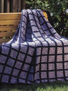 variegated floss projects part 4 - windowpane afghan