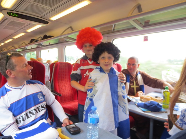 gypsy ways update 3 - new QPR friends on the train to clapham junction
