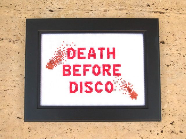 stripes cross stitch pattern death before disco
