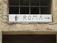 gypsy ways update 5 - rome sign in buonconvento