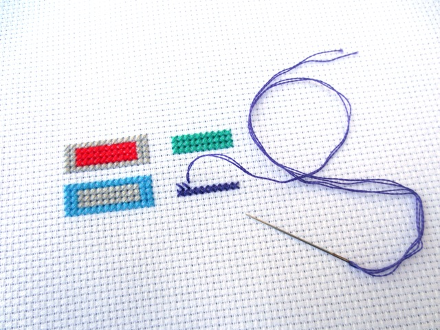 cross stitch guide to the NFL - work in progress 1