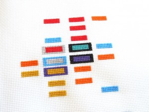 cross stitch guide to the NFL - work in progress 2