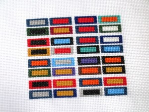 cross stitch guide to the NFL - work in progress 3