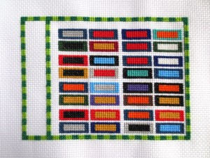 cross stitch guide to the NFL - work in progress 4