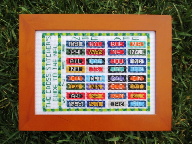 cross stitch guide to the NFL