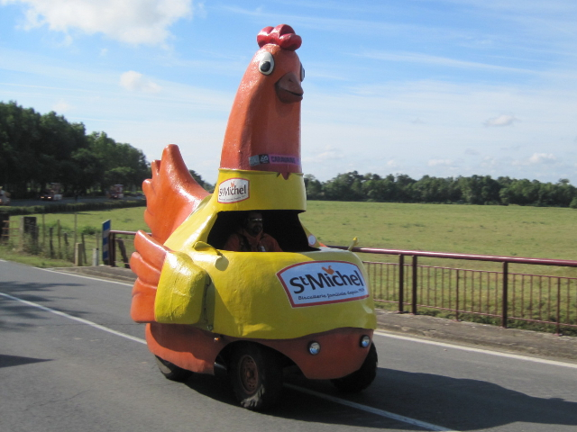 gypsy ways update 6 tour de france publicity caravan st michel chicken