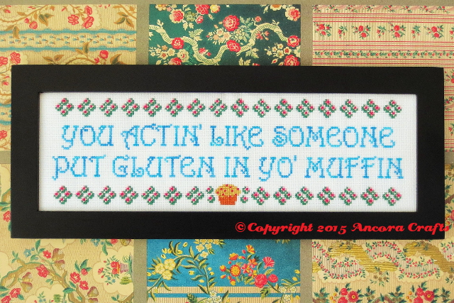 gluten in your muffin cross stitch pattern