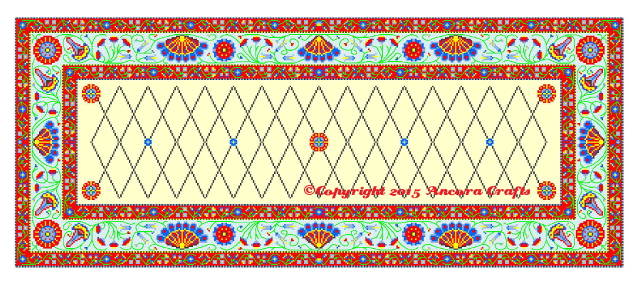 persian needlepoint kit and pattern rug design
