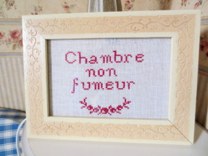 gypsy ways update 8 - auberge du port de roches cross stitch chambre non fumeur
