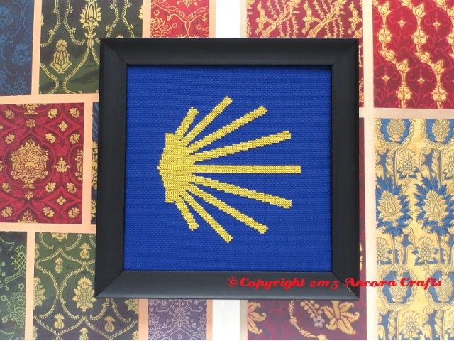 camino de santiago cross stitch pattern