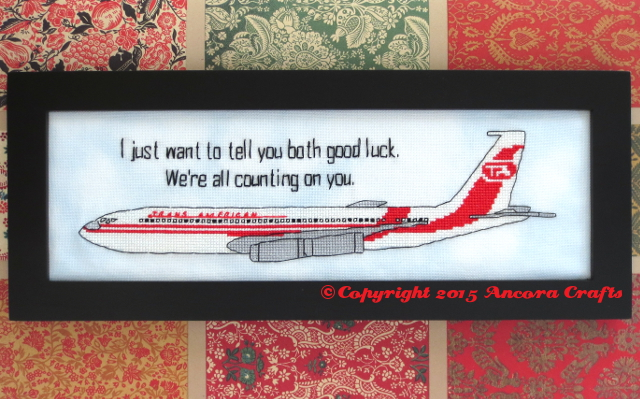 airplane movie cross stitch project