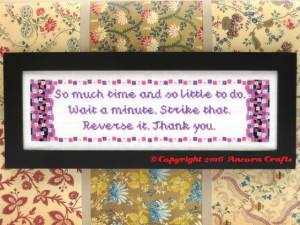 willy wonka cross stitch pattern so much time and so little to do