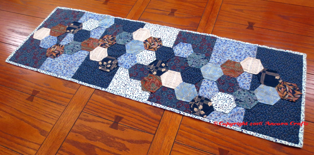 hexagon table runner project