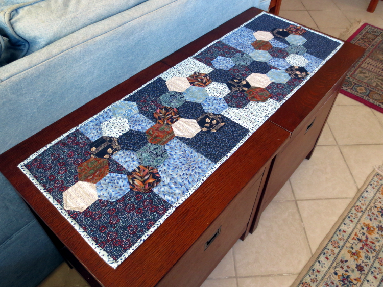 hexagon table runner project 2