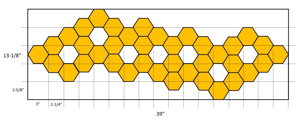 hexagon table runner project dimensions