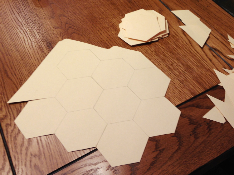 hexagon table runner project templates