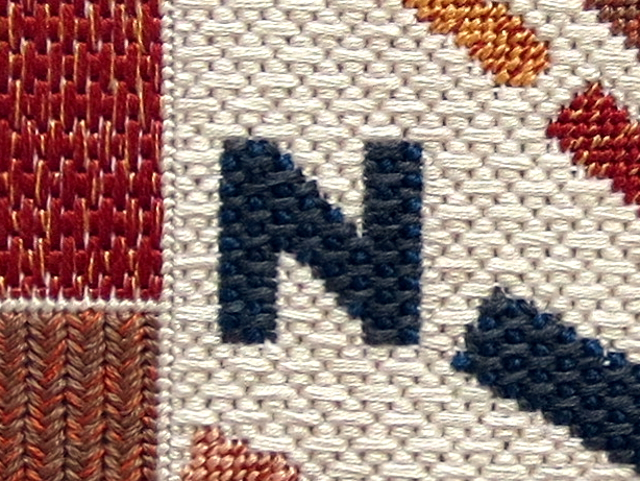 compass needlepoint compass rose close up 1 double stitch