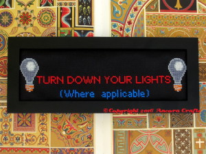 mst3k turn down your lights cross stitch pattern