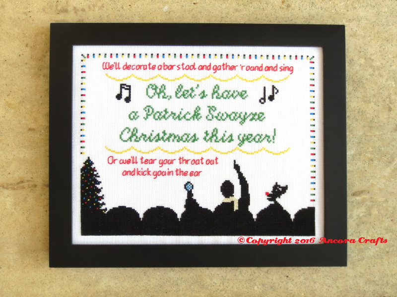 mst3k patrick swayze christmas cross stitch pattern