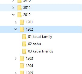 photo organization file structure 2012