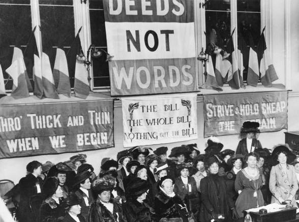 deeds not words cross stitch example suffragette banner