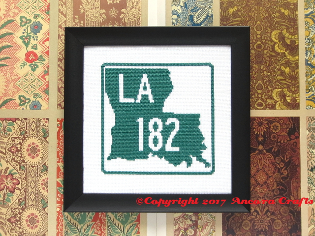 louisiana highway cross stitch pattern