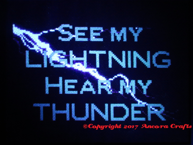 lightning cross stitch pattern serena ryder lyric see my lightning hear my thunder glow in the dark blacklight