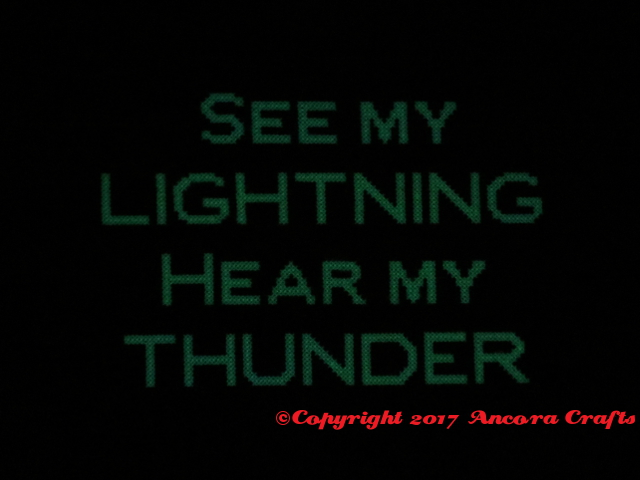 lightning cross stitch pattern serena ryder lyric see my lightning hear my thunder glow in the dark