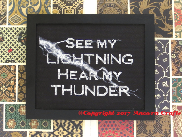 lightning cross stitch pattern see my lightning hear my thunder cross stitch pattern
